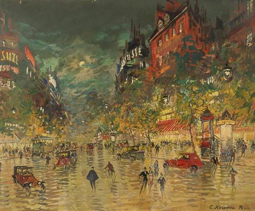 Art Prints of Paris by Night by Konstantin Alexeevich Korovin