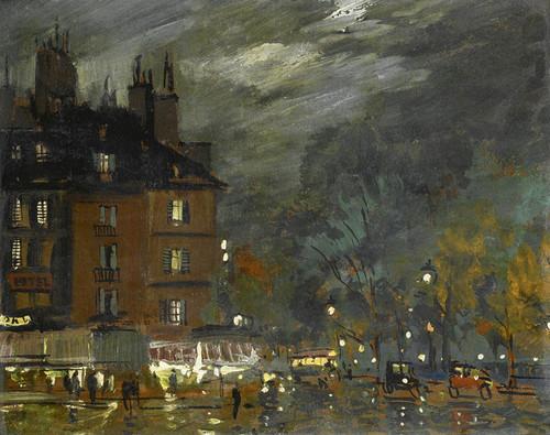 Art Prints of Paris Night View by Konstantin Alexeevich Korovin
