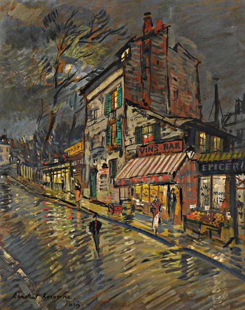 Art Prints of Paris by Night II by Konstantin Alexeevich Korovin