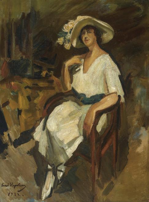 Art Prints of Portrait of Madame Maria Rubin by Konstantin Alexeevich Korovin