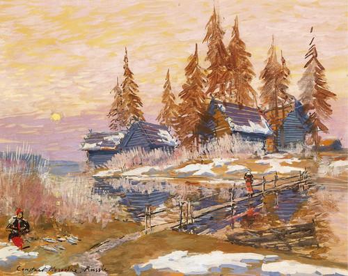 Art Prints of Late Winter by Konstantin Alexeevich Korovin