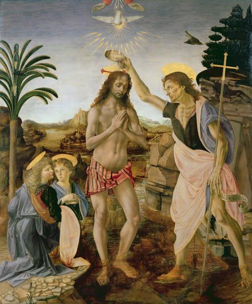 Art Prints of Baptism of Christ by Leonardo da Vinci