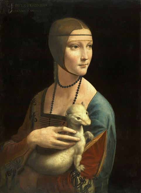 Art Prints of Lady with an Ermine by Leonardo da Vinci