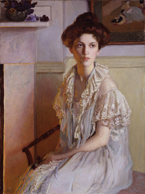 Art Prints of Lady with a Bowl of Violets by Lilla Cabot Perry
