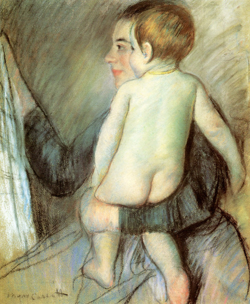 Art Prints of At the Window by Mary Cassatt