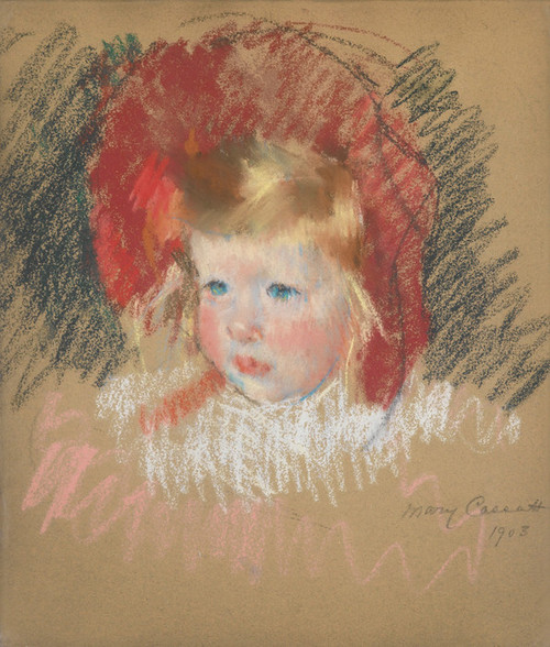 Art Prints of Child with a Red Hat by Mary Cassatt