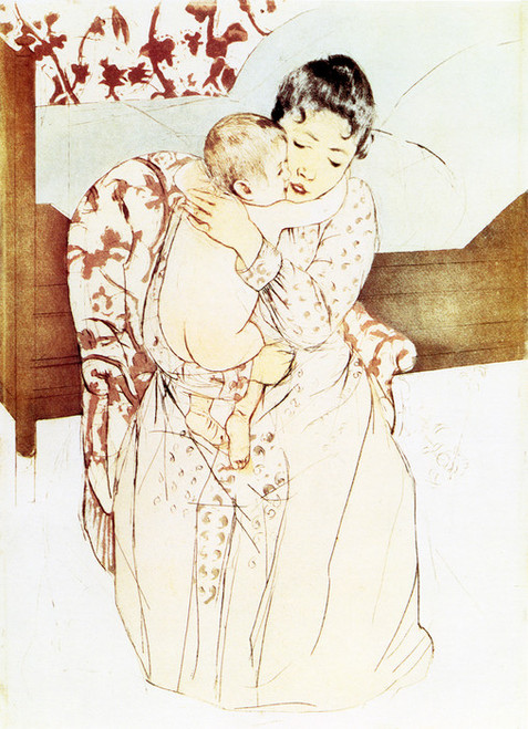 Art Prints of Maternal Caress, Fifth State by Mary Cassatt