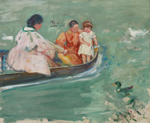 Art Prints of On the Water or Feeding the Ducks by Mary Cassatt