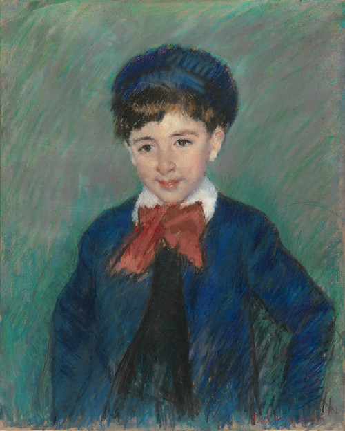 Art Prints of Portrait of Charles Dikran Kelekian, Age Eight by Mary Cassatt