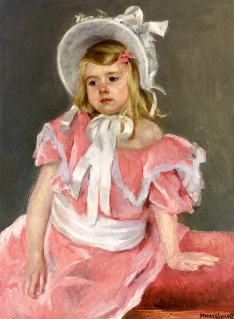 Art Prints of Sara Seated Leaning on Her Left Hand by Mary Cassatt