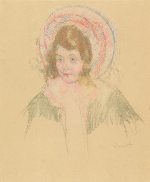 Art Prints of Sara Wearing Bonnet and Coat by Mary Cassatt