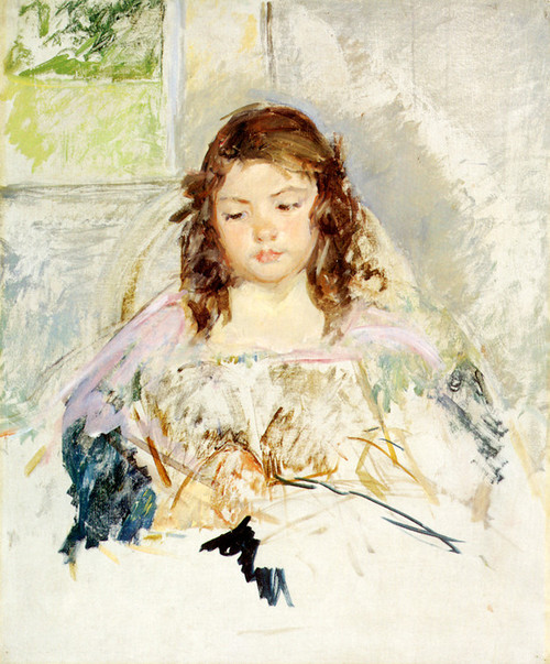 Art Prints of Sketch for Francoise in a Round Back Chair Reading by Mary Cassatt