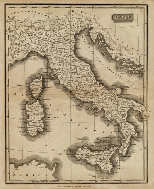 Art Prints of Italy, 1825 (0124008) by Matthew Carey