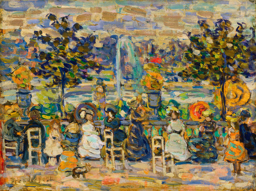 Art Prints of In Luxembourg Gardens by Maurice Prendergast