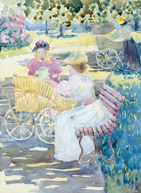 Art Prints of Mothers and Children in the Park by Maurice Prendergast
