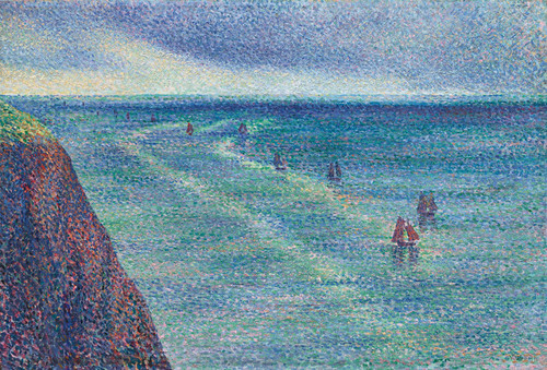 Art Prints of Camaret Fishing Vessels on the Coast by Maximilien Luce
