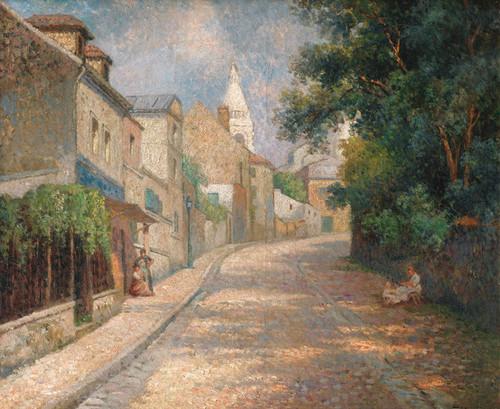 Art Prints of Montmartre, Fountain Street by Maximilien Luce