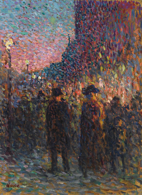 Art Prints of Paris Boulevards at Night by Maximilien Luce