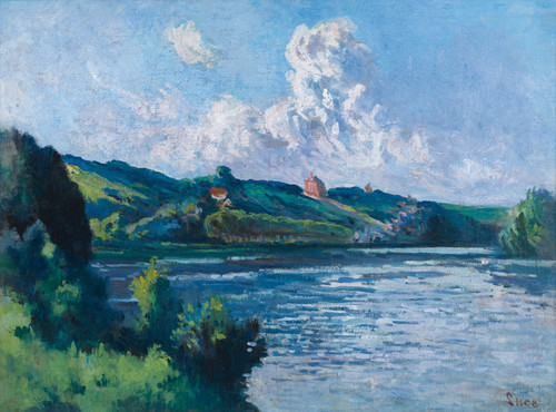Art Prints of Rolleboise, Landscape by Maximilien Luce