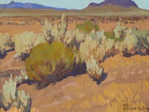 Art Prints of Sage and Rabbit Brush by Maynard Dixon