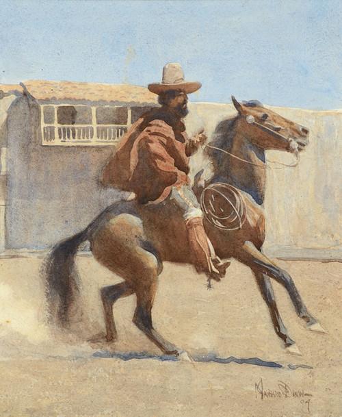 Art Prints of Ranchero of Old California by Maynard Dixon