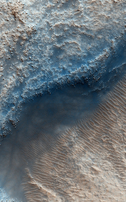 Art Prints of Fill or Mantling Material in a Crater by NASA