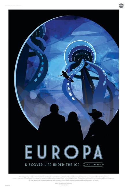 Art Prints of Europa by NASA/JPL-Caltech