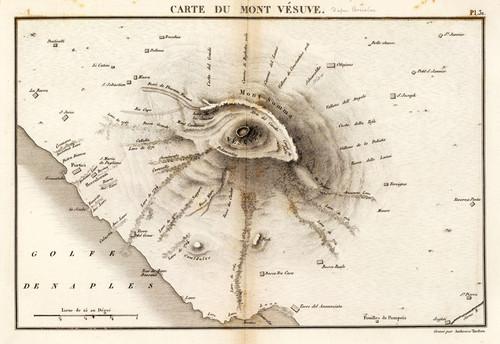 Art Prints of Monte Vesuve, 1827 (1801030) by Desmarest and Vincent