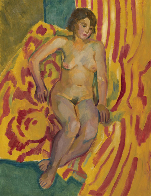 Art Prints of Seated Nude by Nikolai Andreevich Tyrsa