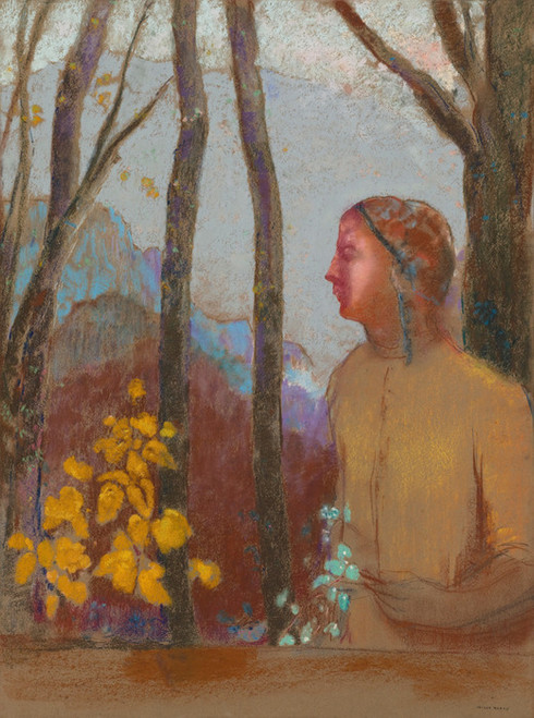 Art Prints of Evocation or Woman in the Mountains by Odilon Redon