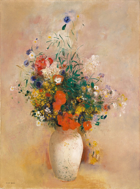 Art Prints of Flowers in a Chinese Vase by Odilon Redon