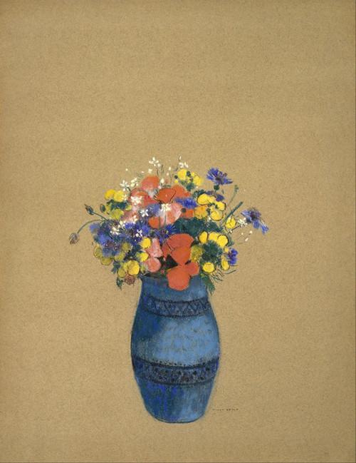 Art Prints Of Vase Of Flowers Blue Vase By Odilon Redon