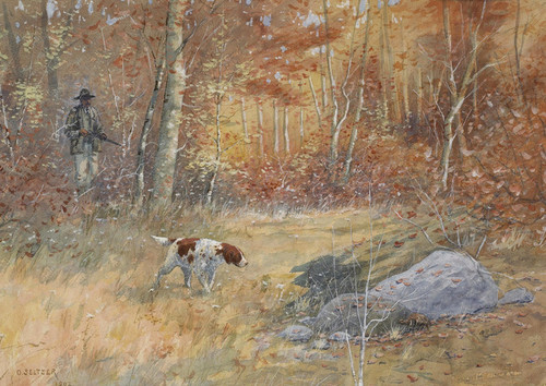 Art Prints of Quail Hunting by Olaf Carl Seltzer
