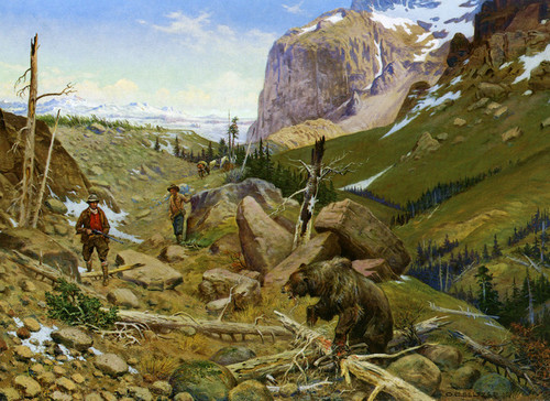 Art Prints of Cautious Encounter by Olaf Carl Seltzer
