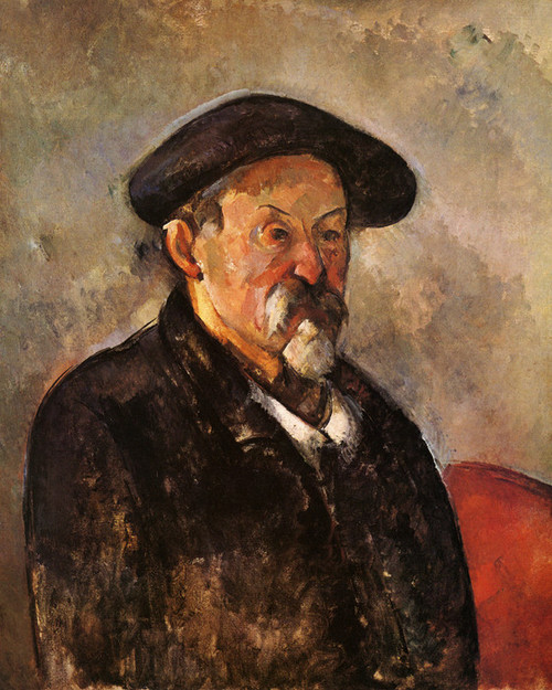 Art Prints of Self Portrait with Beret by Paul Cezanne