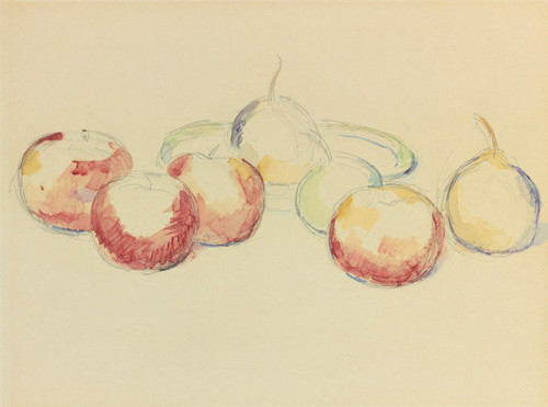 Art Prints of Apples and Pears by Paul Cezanne