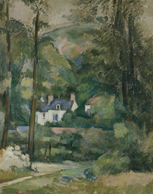 Art Prints of Houses in the Green by Paul Cezanne