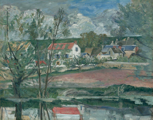 Art Prints of Landscape on the Banks of the Oise by Paul Cezanne