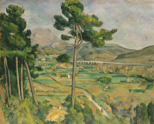 Art Prints of Mont Saint Victorie and Viaduct of Arc River Valley by Paul Cezanne