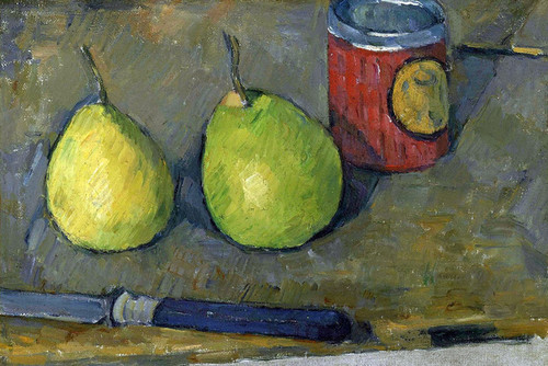Art Prints of Pears and a Knife by Paul Cezanne