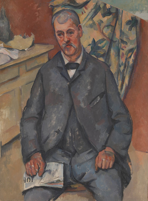 Art Prints of Seated Man by Paul Cezanne