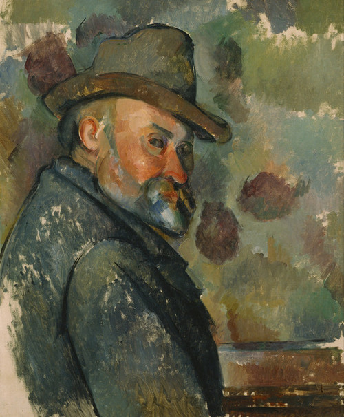 Art Prints of Self Portrait with a Hat by Paul Cezanne