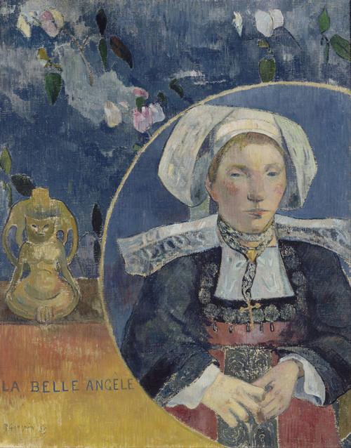 Art Prints of La belle AngC(le by Paul Gauguin