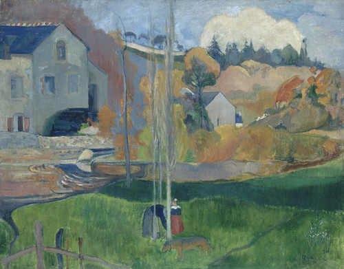 Art Prints of Landscape in Brittany, the David Mill by Paul Gauguin