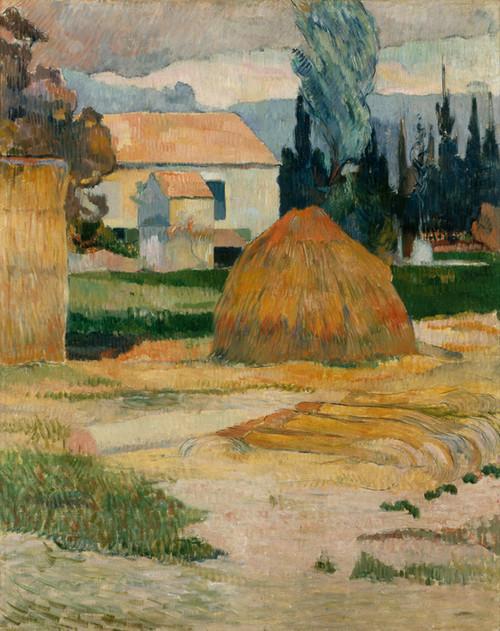 Art Prints of Landscape near Arles by Paul Gauguin