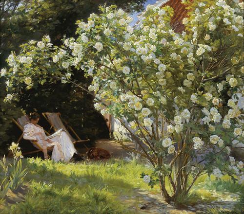 Art Prints of Marie Kroyer Seated in the Garden by Peder Severin Kroyer