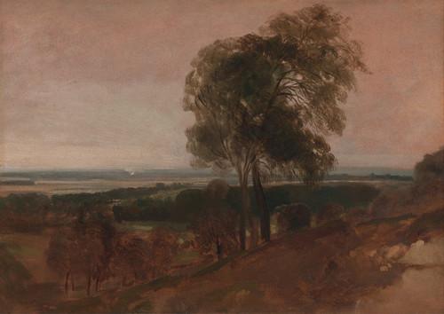 Art Prints of Landscape Study at Sunset by Peter De Wint