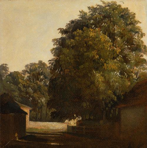 Art Prints of Landscape with Chestnut Tree by Peter De Wint