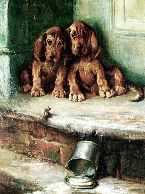 Art Prints of Bloodhounds in the Rain by Philip Eustace Stretton