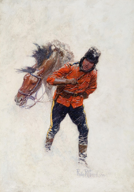 Art Prints of Canadian Mountie by Philip Goodwin
